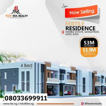 Luxury Apartment, Marble Estate Beside Jonaith Hotel, Sangotedo, Ajah, Lagos, Detached Duplex for Sale