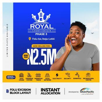 Residential Plot, Royal County Phase 3, Folu Ise, Ibeju Lekki, Lagos, Residential Land for Sale